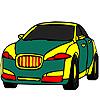 Public green car coloring Spiel