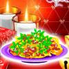Rot Weihnachten Pasta Spiel