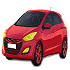 Red Hyundai car coloring Spiel