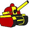 Roten Militärpanzer Färbung Spiel