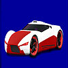 Red concept racing car coloring Spiel