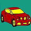 Red longer car coloring Spiel