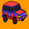 Red mountain jeep coloring Spiel