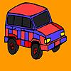 Roter Berg Jeep Färbung Spiel