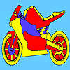 Red race motorcycle coloring Spiel