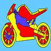 Roten Rennen Motorrad Färbung Spiel