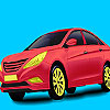 Red holding car coloring Spiel