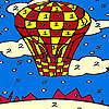 Red flying balloon coloring Spiel