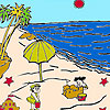 Sandcastles on the beach coloring Spiel