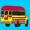 School bus parking coloring Spiel