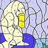 Meer-Bär und Fisch Färbung Spiel