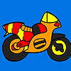 Kleine bunte Motorrad Färbung Spiel