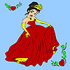 Frühling Abschlussball Prinzessin Färbung Spiel