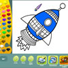 Space coloring pages Spiel