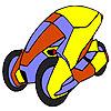 Space concept car coloring Spiel