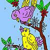 Süße benachbarten Vögel Malvorlagen Spiel