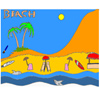 Tropical Beach Coloring Spiel