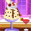 Vanille-Eis Deko Spiel