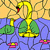 Water lily and ducks coloring Spiel