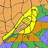 Yellow sparrow coloring Spiel